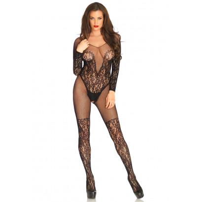 Leg Avenue Vine Lace And Net Bodystocking 89190