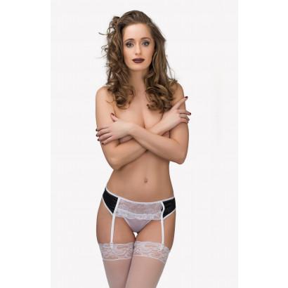 TET Lingerie Garter belt & Panties 9105033 Black-White