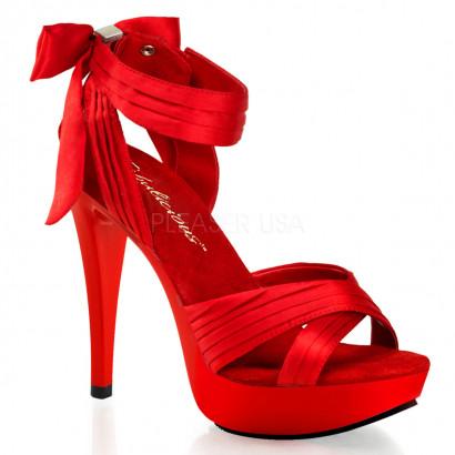 Pleaser Cocktail-568 - Dámske sandálky Červené