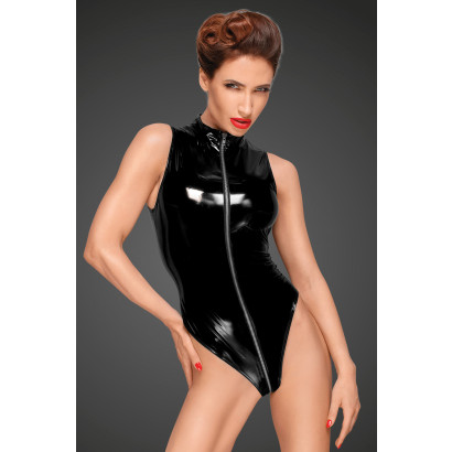Noir Handmade F191 PVC Body with Deep Cut Shoulder Line and Long Metal 3-way Zipper