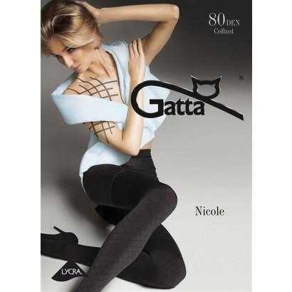 Gatta Nicole - Pančuchové nohavice Nero