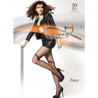 Gatta Fancy 01 - Pančuchové nohavice Nero