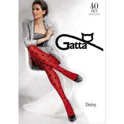 Gatta Dotsy 04 - Pančuchové nohavice Ferrari Červená