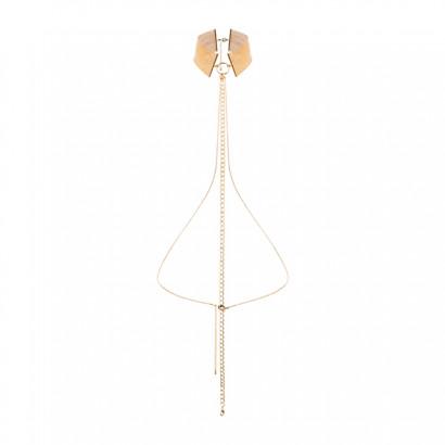 Bijoux Indiscrets Magnifique Collar Gold - Kovový ozdobný obojok Zlatá