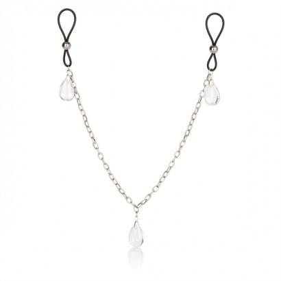 California Exotics Nonpiercing Nipple Chain Jewelry Crystal - Ozdoby na bradavky