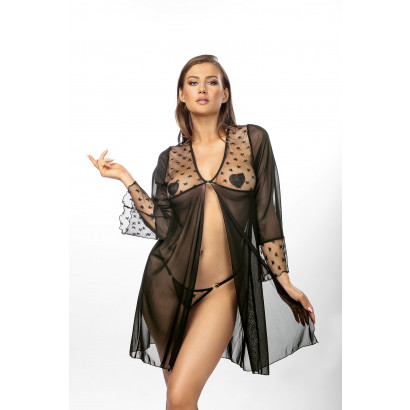 Anais Roisin Robe & Thong Black