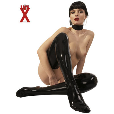 LateX Latex Stockings Black