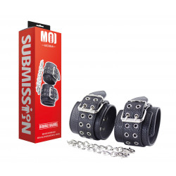 MOI Submission Double Barrel Wrist Cuffs with Iron Chain