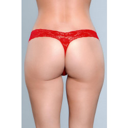 Be Wicked V-Cut Lace Panties Red