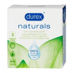 Durex Naturals 3 pack