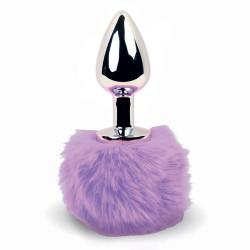 FeelzToys Bunny Tails Butt Plug Purple