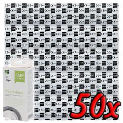 Fair Squared Max Perform - Fair Trade Vegan Condoms 50 pack