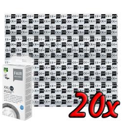 Fair Squared XXL 64 Fair Trade Vegan Condoms 20 pack