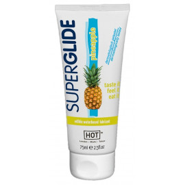 HOT Superglide Edible Waterbased Lubricant Pineapple 75ml
