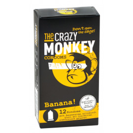 The Crazy Monkey Condoms Banana! 12 pack