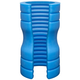Doc Johnson OptiMale TRUSKYN Silicone Stroker Ribbed Blue
