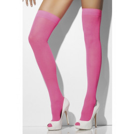 Fever Opaque Hold-Ups 28351 - Thigh Stockings Neon-Pink