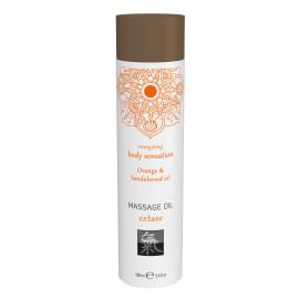 Shiatsu Massage Oil Extase Orange & Sandalwood Oil 100ml