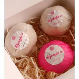 LORA Bath Bombs Strawberry, Vanilla, Chocolate 3 pack