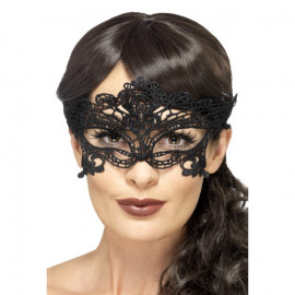 Fever Embroidered Lace Filigree Heart Eyemask 45628 - Eye Mask