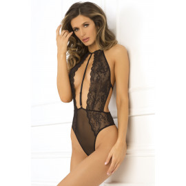 René Rofé Hot Pursuit Lace Bodysuit Black