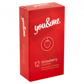 you&me Strawberry Condoms 12 pack