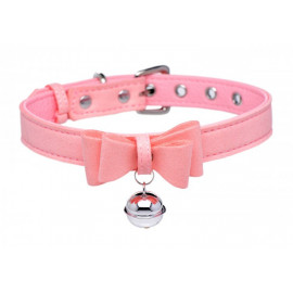 Master Series Golden Kitty Collar with Cat Bell Pink