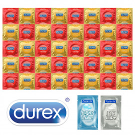 Durex Strawberry Banana Package - 40 Condoms + 2x Lubricant Pasante
