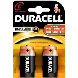Battery Alkaline Duracell Basic C Duralock 2 pack
