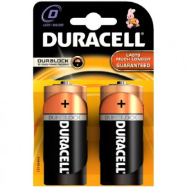 Battery Alkaline Duracell Basic D Duralock 2 pack