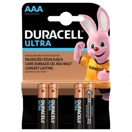 Battery Alkaline Duracell Turbo MAX AAA Duralock 4 pack