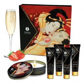 Shunga Geisha Secrets Collection Sparkling Strawberry Wine 5 pack