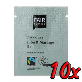 Fair Squared Lube & Massage Gel Green Tea 3ml 10 pack