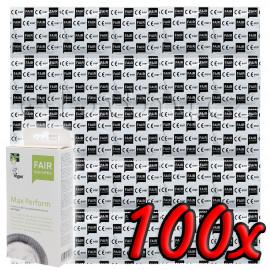 Fair Squared Max Perform - Fair Trade Vegan Condoms 100 pack