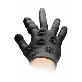 Fist It Silicone Stimulation Glove Black