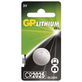 Battery Lithium Button GP CR2025 1 pc