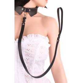 Angel Touch Leather Collar Black