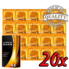Vitalis Premium Ribbed 20 pack