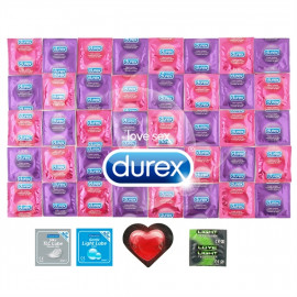 Package Durex High Pleasure - 42 + 2x Condom Lubricant Pasante