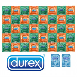 Package Durex Orange Apple - 40 Condoms + 2x Lubricant Pasante