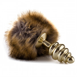 Ouch! Extra Feel Bunny Tail Buttplug Silver - Anal Pin the Tail Golden Hare