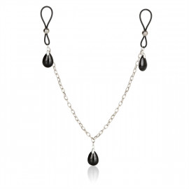 California Exotics Nonpiercing Nipple Chain Jewelry Onyx - Ornaments For Nipples