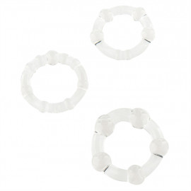 Stay Hard Cock Rings - Set Cock Rings Transparent 3 Pcs