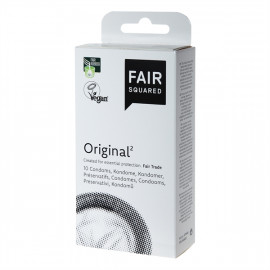 Fair Squared Original - Fair Trade Vegan Condoms 10 pack