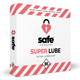 Safe Super Lube Condoms Extra Lubricant 36 pack