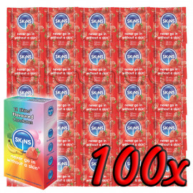 Skins Strawberry 100 pack