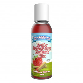 Vince & Michaels Flavored Massage Oil Fruity Strawberry Rhubarb Bliss 50ml
