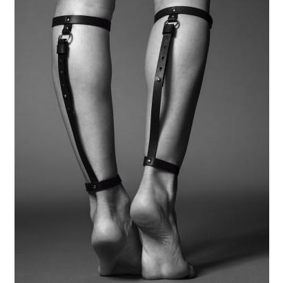 Bijoux Indiscrets Maze Back Leg Garter Black