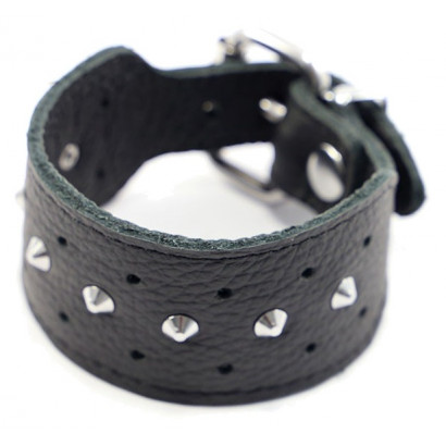 Kiotos Leather Studded Bracelet Single