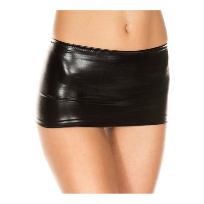 Musiclegs Metallic Mini Skirt 156 Black